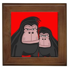 Gorillas Framed Tiles by Valentinaart