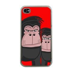 Gorillas Apple Iphone 4 Case (clear) by Valentinaart