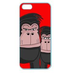 Gorillas Apple Seamless Iphone 5 Case (color) by Valentinaart