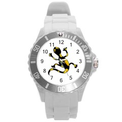 Lizard Round Plastic Sport Watch (l) by Valentinaart