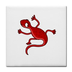 Red Lizard Tile Coasters by Valentinaart