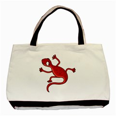 Red Lizard Basic Tote Bag (two Sides) by Valentinaart