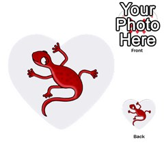 Red Lizard Multi Purpose Cards (heart)