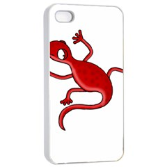 Red Lizard Apple Iphone 4/4s Seamless Case (white) by Valentinaart
