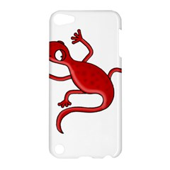 Red Lizard Apple Ipod Touch 5 Hardshell Case by Valentinaart