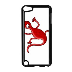 Red Lizard Apple Ipod Touch 5 Case (black) by Valentinaart