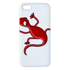 Red Lizard Iphone 5s/ Se Premium Hardshell Case by Valentinaart