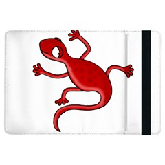 Red Lizard Ipad Air Flip by Valentinaart