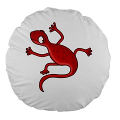 Red Lizard Large 18  Premium Flano Round Cushions by Valentinaart