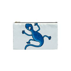 Blue Lizard Cosmetic Bag (small)  by Valentinaart