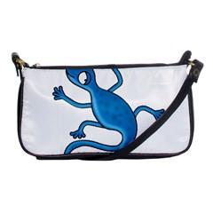 Blue Lizard Shoulder Clutch Bags by Valentinaart