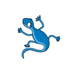 Blue Lizard 5 5  X 8 5  Notebooks by Valentinaart