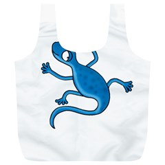 Blue Lizard Full Print Recycle Bags (l)  by Valentinaart