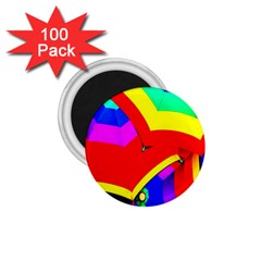 Umbrella Color Red Yellow Green Blue Purple 1 75  Magnets (100 Pack)  by AnjaniArt