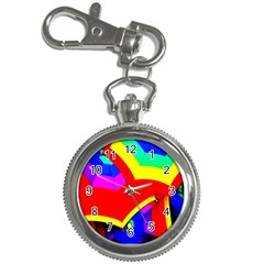 Umbrella Color Red Yellow Green Blue Purple Key Chain Watches by AnjaniArt