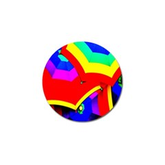 Umbrella Color Red Yellow Green Blue Purple Golf Ball Marker by AnjaniArt