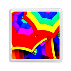Umbrella Color Red Yellow Green Blue Purple Memory Card Reader (square)  by AnjaniArt