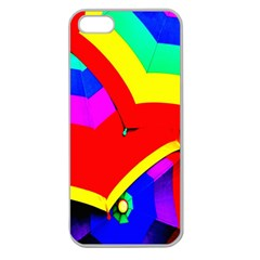 Umbrella Color Red Yellow Green Blue Purple Apple Seamless Iphone 5 Case (clear) by AnjaniArt