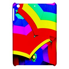 Umbrella Color Red Yellow Green Blue Purple Apple Ipad Mini Hardshell Case by AnjaniArt