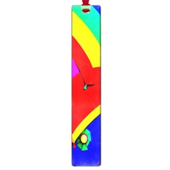 Umbrella Color Red Yellow Green Blue Purple Large Book Marks by AnjaniArt