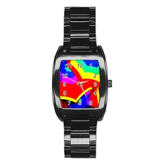 Umbrella Color Red Yellow Green Blue Purple Stainless Steel Barrel Watch by AnjaniArt