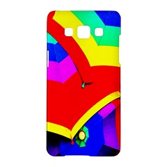 Umbrella Color Red Yellow Green Blue Purple Samsung Galaxy A5 Hardshell Case  by AnjaniArt
