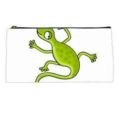 Green Lizard Pencil Cases by Valentinaart