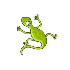 Green Lizard 5 5  X 8 5  Notebooks by Valentinaart