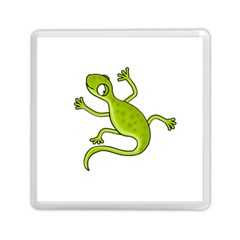 Green Lizard Memory Card Reader (square)  by Valentinaart