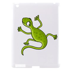 Green Lizard Apple Ipad 3/4 Hardshell Case (compatible With Smart Cover) by Valentinaart