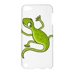 Green Lizard Apple Ipod Touch 5 Hardshell Case by Valentinaart