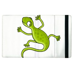 Green Lizard Apple Ipad 3/4 Flip Case by Valentinaart