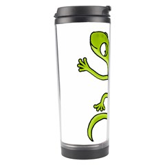 Green Lizard Travel Tumbler by Valentinaart