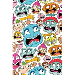 Weird Faces Pattern 5 5  X 8 5  Notebooks by AnjaniArt