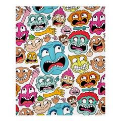 Weird Faces Pattern Shower Curtain 60  X 72  (medium)  by AnjaniArt