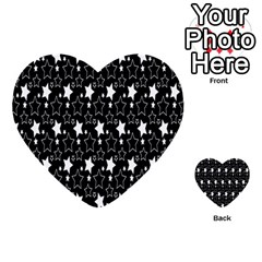 White Star Multi Purpose Cards (heart)