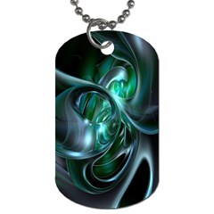 Ws Blue Green Float Dog Tag (one Side) by AnjaniArt