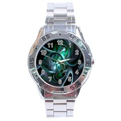 Ws Blue Green Float Stainless Steel Analogue Watch by AnjaniArt
