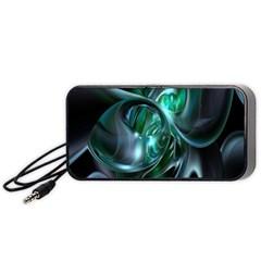 Ws Blue Green Float Portable Speaker (black)  by AnjaniArt