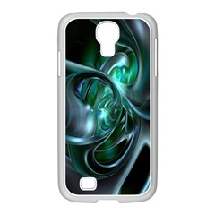 Ws Blue Green Float Samsung Galaxy S4 I9500/ I9505 Case (white) by AnjaniArt