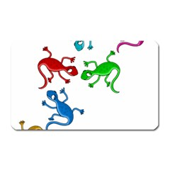 Colorful Lizards Magnet (rectangular) by Valentinaart