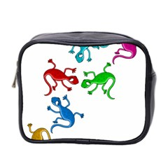 Colorful Lizards Mini Toiletries Bag 2 Side by Valentinaart