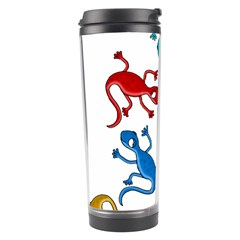 Colorful Lizards Travel Tumbler by Valentinaart