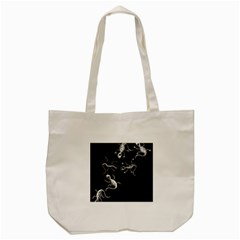 Black And White Lizards Tote Bag (cream) by Valentinaart