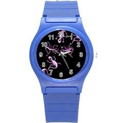 Purple Lizards Round Plastic Sport Watch (s) by Valentinaart
