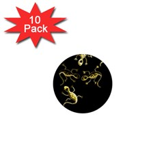 Yellow lizards 1  Mini Magnet (10 pack)