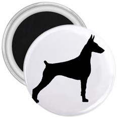Doberman Pinscher Silo Black 3  Magnets by TailWags