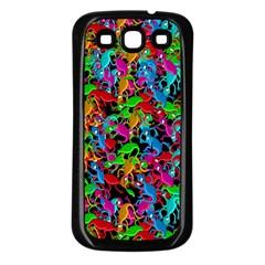 Lizard Pattern Samsung Galaxy S3 Back Case (black) by Valentinaart