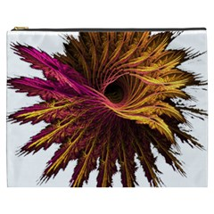 Abstract Fractal Cosmetic Bag (XXXL)  by Zeze