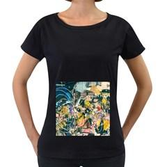 Art Graffiti Abstract Vintage Women s Loose-Fit T-Shirt (Black) by Zeze